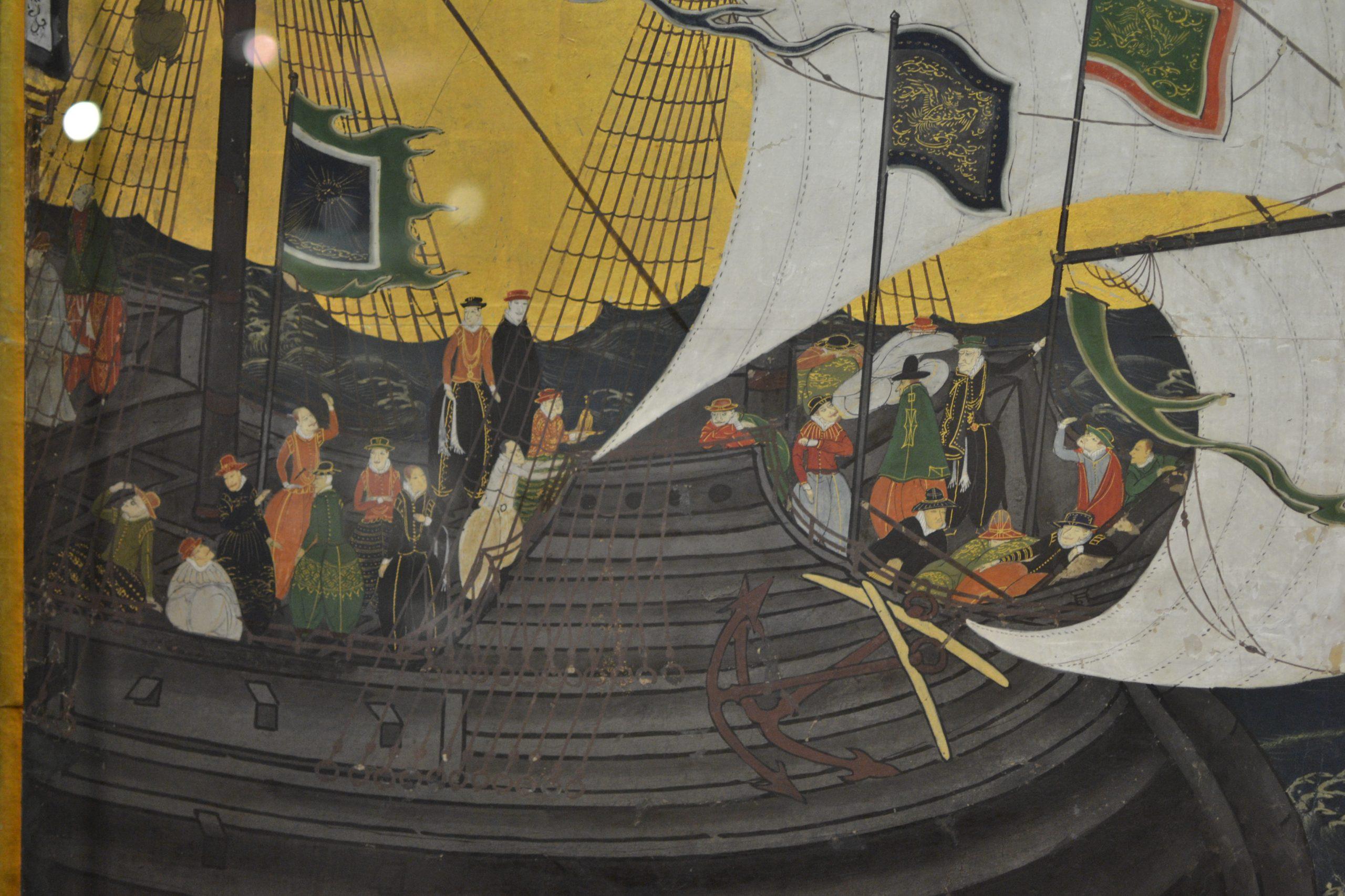 Os biombos namban: paravanele care spun povestea sosirii portughezilor în Japonia